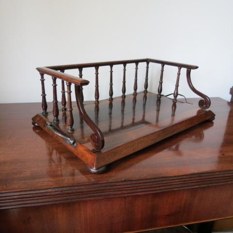 Regency rosewood book carrier