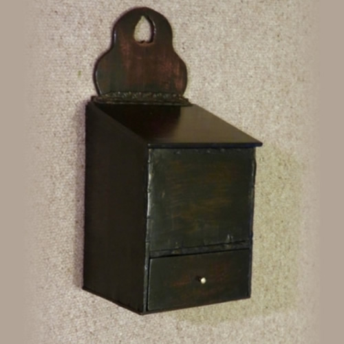 Mid century salt candle box