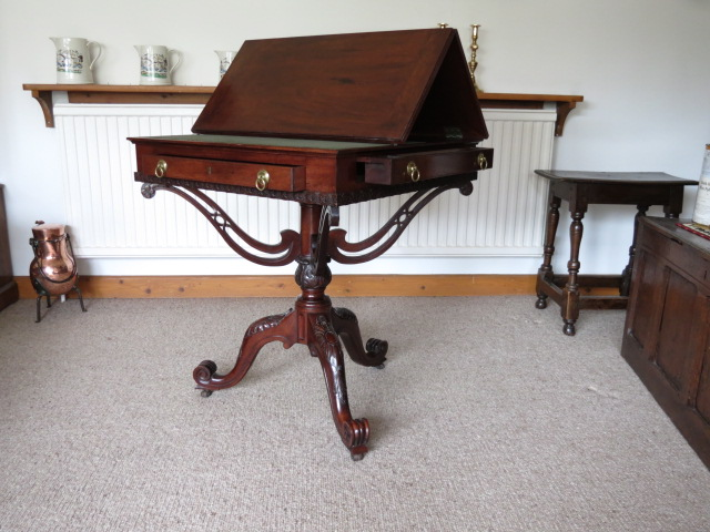 A replica of the William France reading table, the original found at Kenwood House.