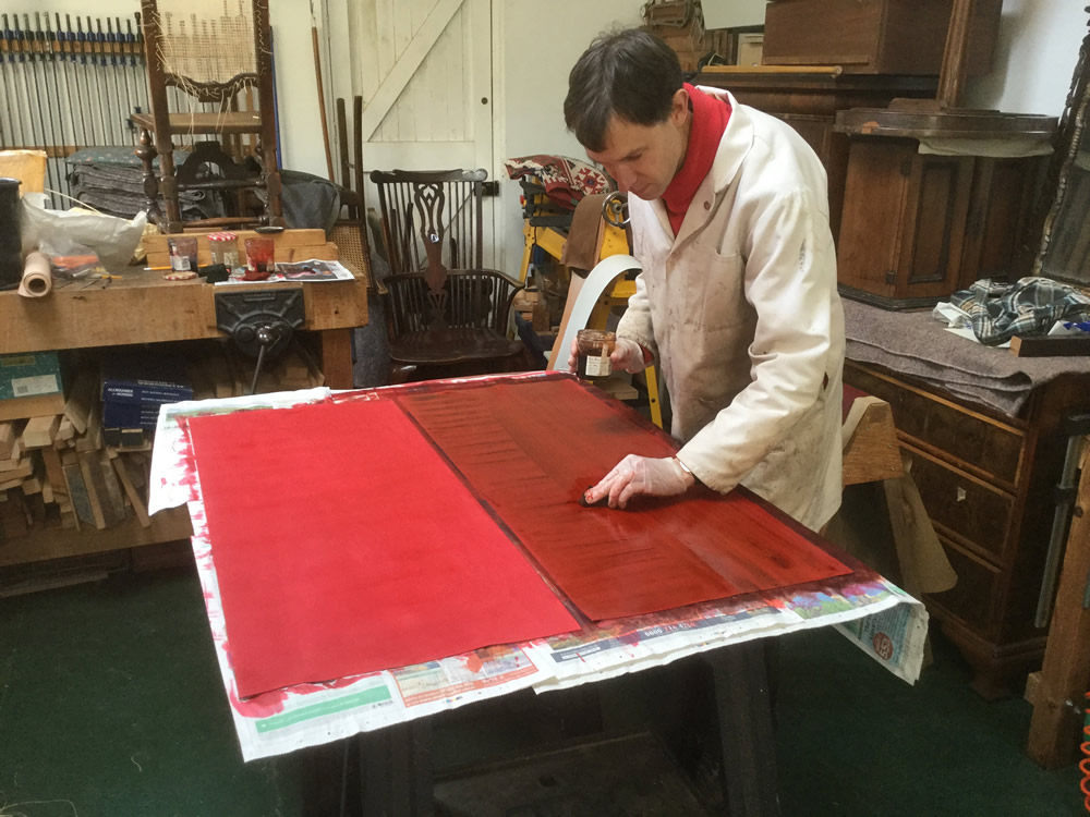 Restoration and polishing antique furniture