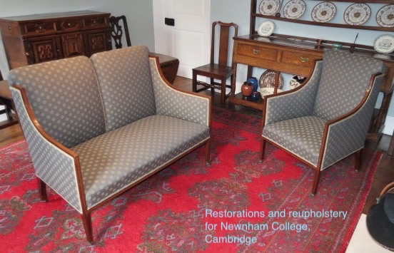 Restoration and reupholstery for Newnham College, Cambridge