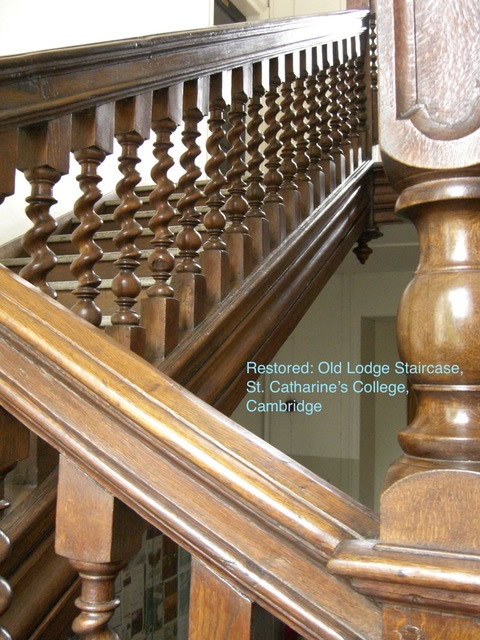 Restored: Old Lodge Staircase in St Catherine's College, Cambridge