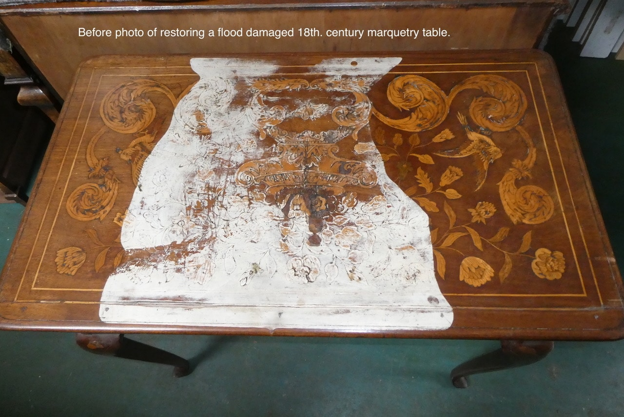 18th Century Marquetry Table